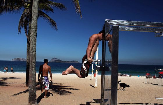 Entrainement plage musculation